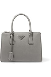 Prada Galleria Medium Textured Leather Tote Gray
