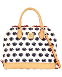 Dooney And Bourke Penn State Nittany Lions Zip Zip Satchel White