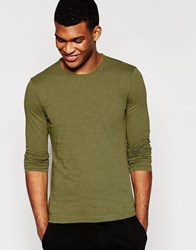 United Colors Of Benetton Long Sleeve Top Green