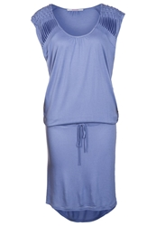 Bloom Jersey Dress Sky Blue