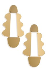Panacea Art Deco Earrings Gold