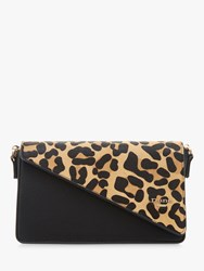 Dune Erina Leather Clutch Bag Leopard Pony