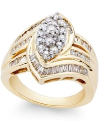 Macy's Diamond Cocktail Ring 1 Ct. T.W. In 14K Gold No Color
