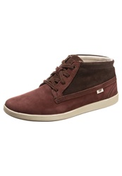 Caterpillar Dubbed Trainers Red Brown