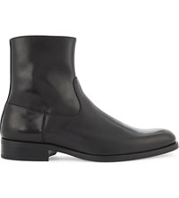 Aldo Eclause Leather Boots Black Leather
