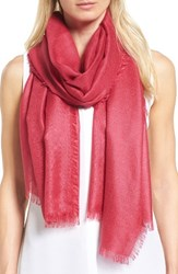 Nordstrom Women's Cashmere And Silk Wrap Pink Vivacious