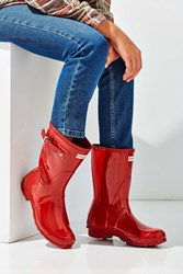 Hunter Original Short Gloss Rain Boot Bright Red