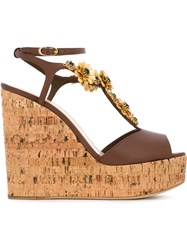 Giuseppe Zanotti Design 'Nancy' Wedge Sandals Brown