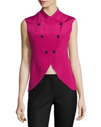 Cnc Costume National Sleeveless Double Breasted Jacket Pink Women's