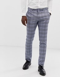Selected Homme Slim Suit Trouser In Grey Check