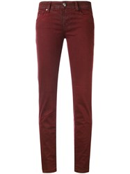 Jacob Cohen Cropped Skinny Jeans Women Cotton Polyester Spandex Elastane Viscose 29 Red