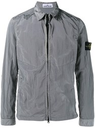 Stone Island Zipped Lightweighted Jacket Grey