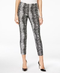 Alfani Petite Snakeskin Print Ankle Pants Only At Macy's Black Python