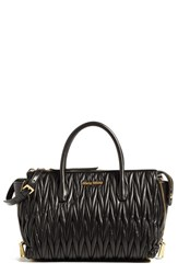Miu Miu Matelasse Leather Satchel Black Nero