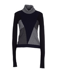 Space Style Concept Turtlenecks Black