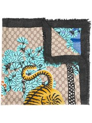 Gucci Bengal Scarf Forest