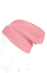 Women's Phase 3 'Stand Up' Basket Knit Slouchy Beanie Pink Pink Trillium