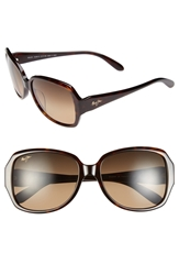 Maui Jim 'Kalena' 57Mm Polarized Sunglasses Dark Tortoise Bronze