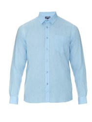 Vilebrequin Long Sleeved Linen Shirt Light Blue