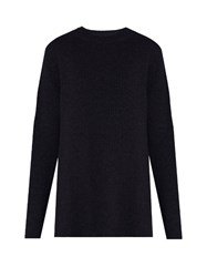 Raey Crew Neck Fine Knit Cashmere Sweater Navy