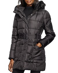 Lauren Ralph Lauren Belted Puffer Jacket Black