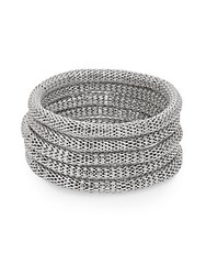 Saks Fifth Avenue Mesh Slip On Bracelet Set Silver