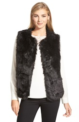 Cece By Cynthia Steffe Faux Fur Vest Rich Black