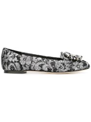 Dolce And Gabbana Vally Slippers Black