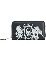 Alexander Mcqueen Coat Of Arms Continental Wallet Men Calf Leather One Size Black