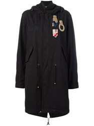 Mr And Mrs Italy Patch Military Coat Black