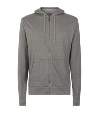 Ralph Lauren Purple Label Zip Front Hoodie Grey