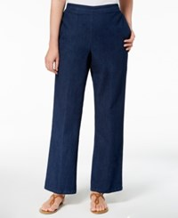 Alfred Dunner Petite Pull On Pants Indigo
