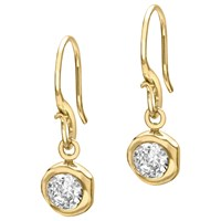 Dower And Hall 18Ct Gold Vermeil Round Topaz Dew Drop Earrings Gold