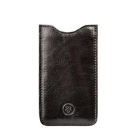 Maxwell Scott Bags Italian Crafted Black Leather Samsung Galaxy S3 Case