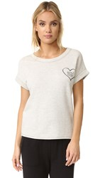 Sol Angeles Corazon Short Sleeve Pullover Light Heather