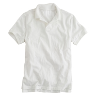 J.Crew Tall Textured Cotton Polo White