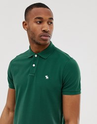 Abercrombie And Fitch Icon Logo Pique Polo In Green