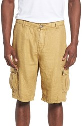 Lucky Brand Men's Herringbone Linen Cargo Shorts