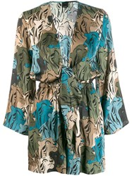 Pinko Floral Playsuit Green