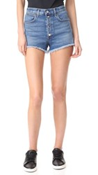 Rag And Bone Jean Lou Shorts Blue Hill