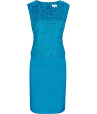 Cc Petite Shimmer Tailored Dress Turquoise