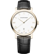 Chopard Classic 18Ct Rose Gold And Alligator Leather Watch