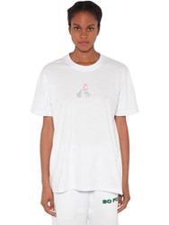Natasha Zinko Printed Cotton Jersey T Shirt White
