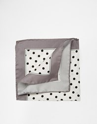 Noose And Monkey Italian Silk Pocket Square With Spot White