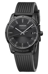 Calvin Klein Evidence Silicone Band Watch 42Mm Black