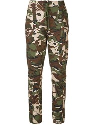 Alexandre Vauthier Camouflage Trousers Green