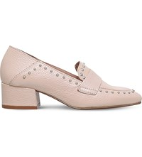 Kg By Kurt Geiger Keekee Studded Leather Loafers Pink