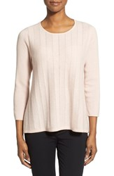 Women's Nordstrom Collection Cashmere A Line Crewneck Sweater