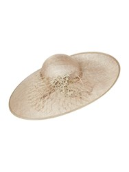 Biba Jerry Lace And Coil Trim Hat Champagne