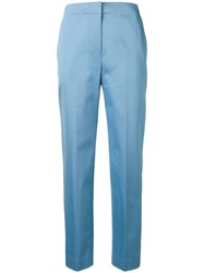 Theory Tailored Cropped Trousers Blue